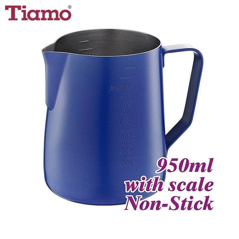 #1326 950cc Unique Color Non-Stick Milk Pitcher w/ scale (HC7088BU)