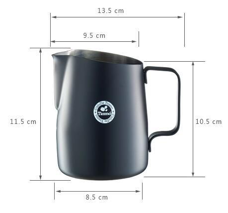 Tiamo Sharp Spout  Black  Milk Jug 650cc(HC7110BK)