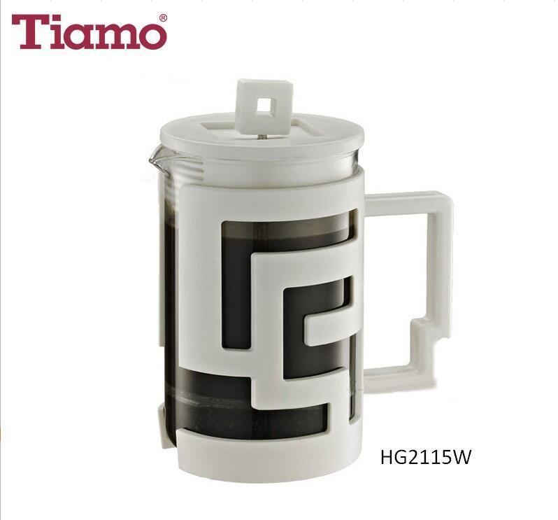 Tiamo Thermal Shock Resistant French Press - White 800ml (HG2115W)