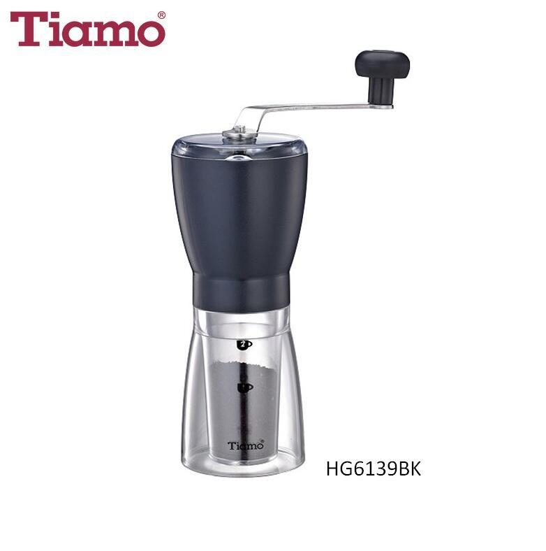 Tiamo 1308 Facile Manual Coffee Grinder - Black (HG6139BK)