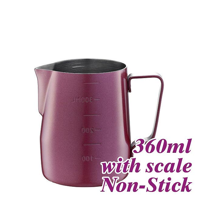 #1311 360cc Elegant Outer Non-Stick Coating Milk Pitcher w/ scale (HC7086RD)