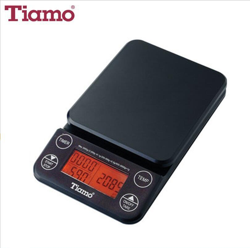 Tiamo KS-9005 Digital Scale with Timer and Temperature Control (Orange Light)