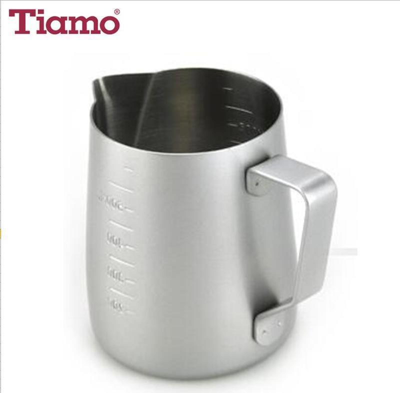 #1312 18-8 Stainless Ssteel Non-Stick Milk Pitcher w/ scale 600cc (HC7087GR)