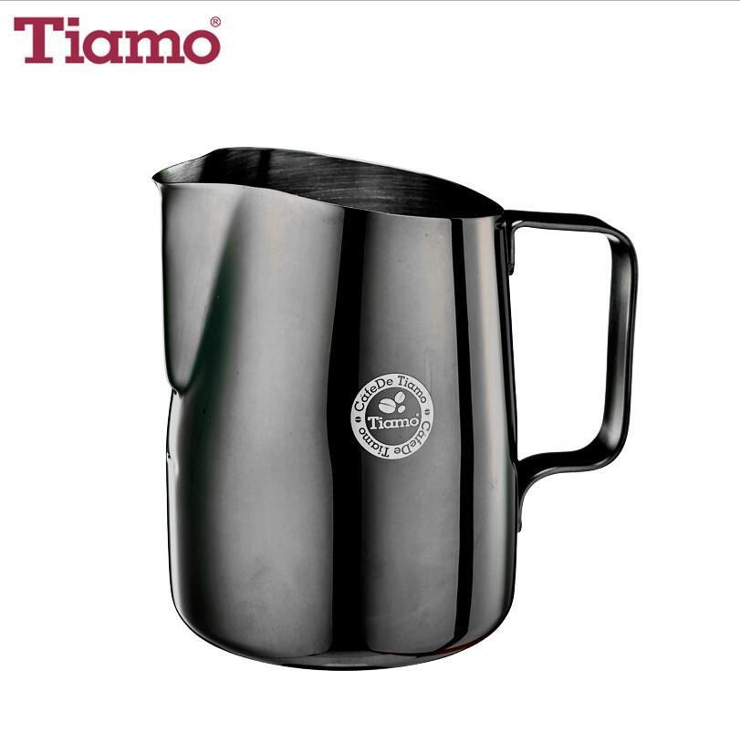 Tiamo 450ml Stainless Steel Milk Jug Sharp-crested  (HC7107TBK)