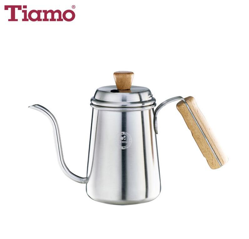 Stainless steel coffee pot w/ wooden handle 0.7L (Stain) (HA1656ST)