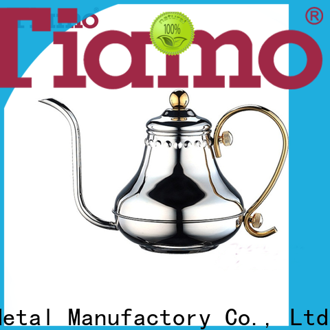 Tiamo good quality stainless steel coffee pot customized for reseller