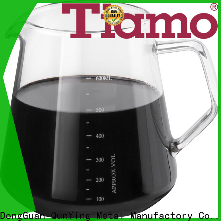 Tiamo wholesale glass coffee carafe supply for importer